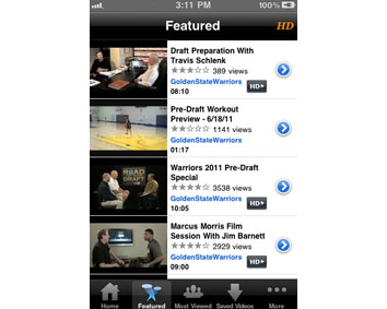 Featured Videos - Easy access to all the top videos