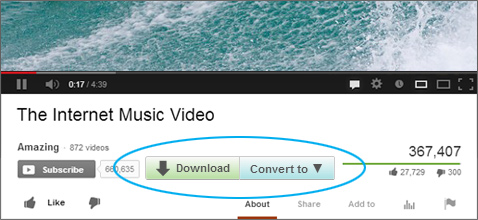 Download and convert videos from YouTube