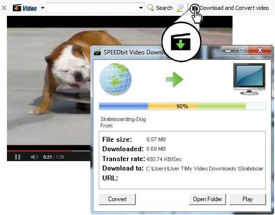 Speedbit Video Downloader and Converter screenshot
