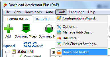 DAP Download basket
